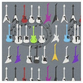 Musik noter och materiellt gitarrtrycktyg tyg