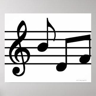Musik noter poster