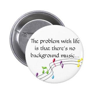 musik noter problemet med liv är den ther… standard knapp rund 5.7 cm
