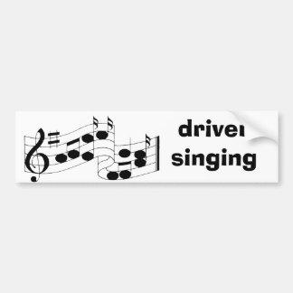 musik noter sjunga för chaufför bildekal