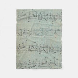 musik noterar filten för ullen för fleecefilt