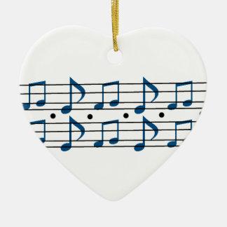 Musik noterar fjäll julgransprydnad keramik
