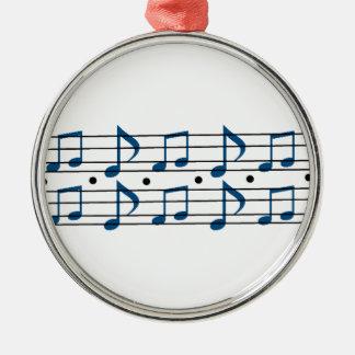 Musik noterar fjäll julgransprydnad metall
