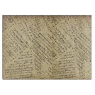 musik noterar skärbrädan för mönstermusiktemat