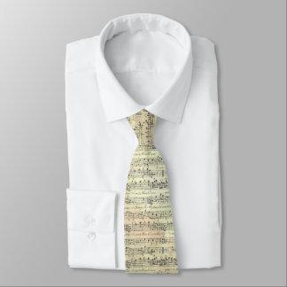 musik noterar tien för mönstermusiktemat slips