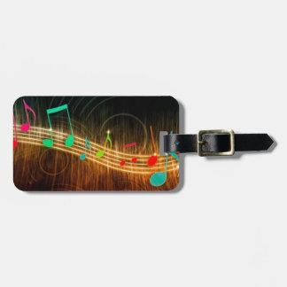 Musik noterdesign bagagebricka