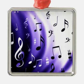 Musik noterdesign julgransprydnad metall