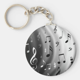 Musik noterdesign rund nyckelring