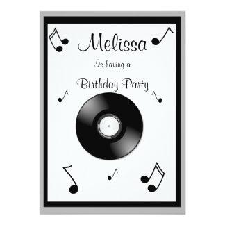 Musik noterfödelsedaginbjudningar 12,7 x 17,8 cm inbjudningskort