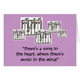 Musik noterfödelsedagkort hälsningskort