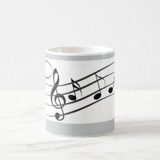 musik noterkaffemugg vit mugg