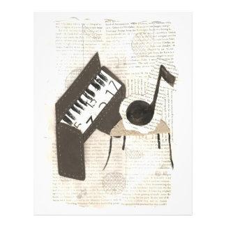 Musik noterreklamblad reklamblad 21,5 x 30 cm