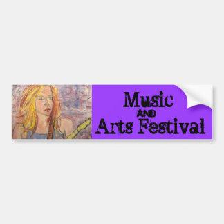 Musik- och konstfestival bildekal