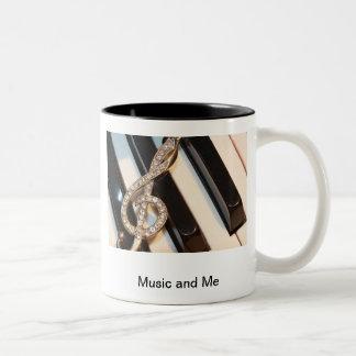 Musik och mig Två-Tonad mugg