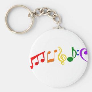 Musik Rund Nyckelring