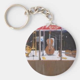 Musik shoppar rund nyckelring