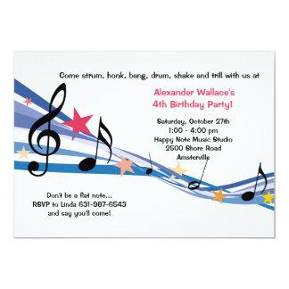 Musik skolar partyinbjudan inbjudan