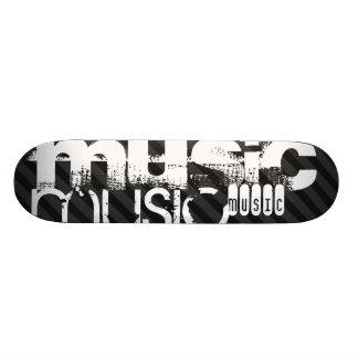 Musik; Svart & mörk - gråttrandar Skateboard Bräda 19,5 Cm