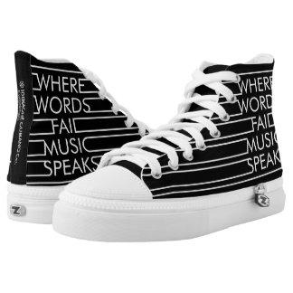 Musik talar den bästa Zipz kicken skor