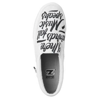 Musik talar det Zipz snedsteget på Shoes