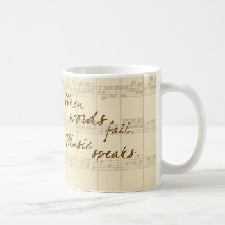 Musik talar kaffemugg