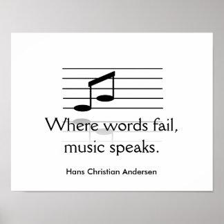 Musik talar - konsttrycket poster