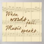 Musik talar posters