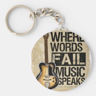 musik talar rund nyckelring