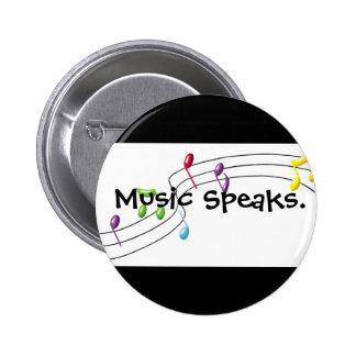 Musik talar standard knapp rund 5.7 cm
