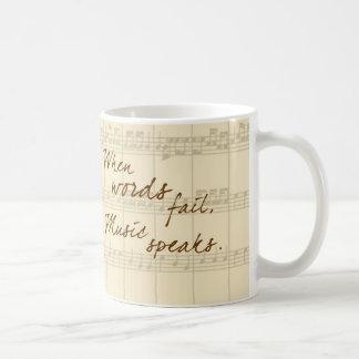 Musik talar vit mugg
