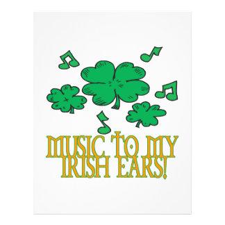Musik till mitt irländska öron reklamblad 21,5 x 30 cm