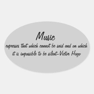 Musik uttrycker… ovalt klistermärke