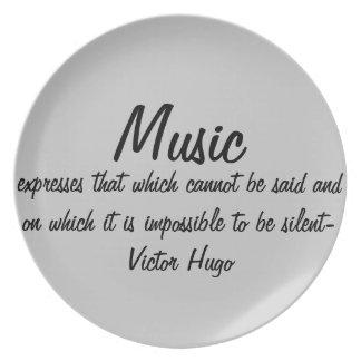 Musik uttrycker… tallrik