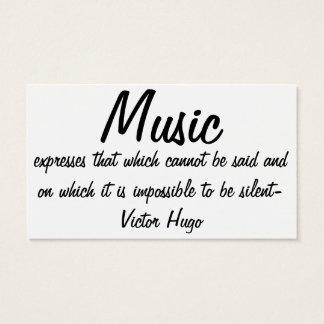 Musik uttrycker… visitkort
