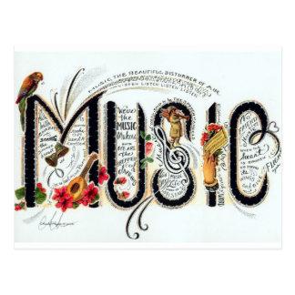Musik Vykort