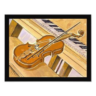 Musikalen instrumenterar högläsning- eller 10,8 x 14 cm inbjudningskort