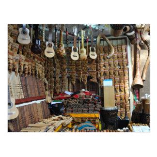 Musikalen instrumenterar - Machu Picchu - Perú Vykort