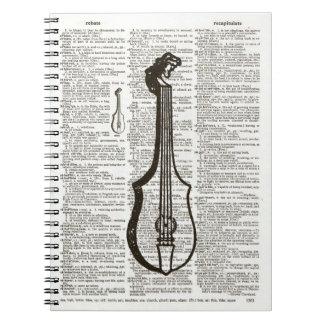Musikalen instrumenterar ordbokkonst anteckningsbok