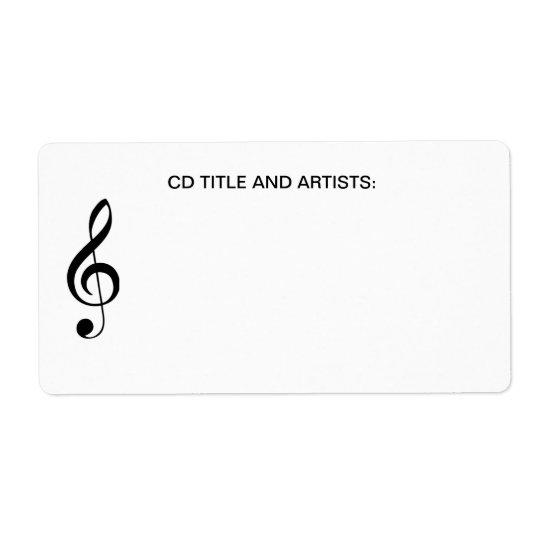 Musikalen noterar CD musiktitel- och konstnärorgan Fraktsedel