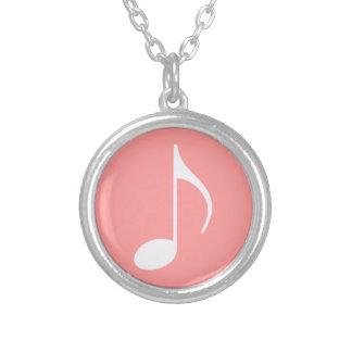 musikalen noterar grafiskt symbol silverpläterat halsband
