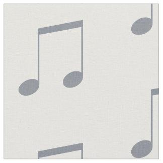 Musikalen noterar mönster tyg