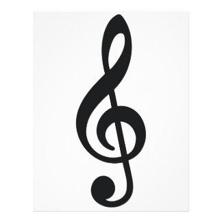 musikalen noterar noterar treblenyckeln brevhuvud
