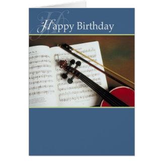 Musikalen stränger grattis på födelsedagen kort