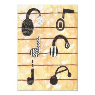 Musikalisk affisch för Headphone Fototryck