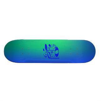 Musikalisk blåttSkateboard Mini Skateboard Bräda 18,5 Cm