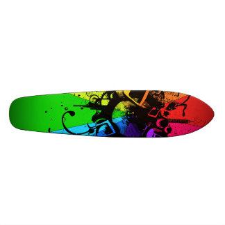 Musikalisk färg stiger ombord skateboard bräda 21,5 cm
