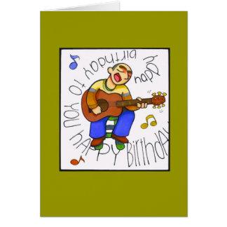 """""""musikalisk födelsedag """", hälsningskort"""