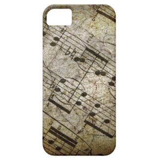 Musikalisk ställning för gammalt lakan, iPhone 5 Case-Mate fodraler