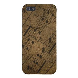 Musikalisk ställning för gammalt lakan, iPhone 5 cover