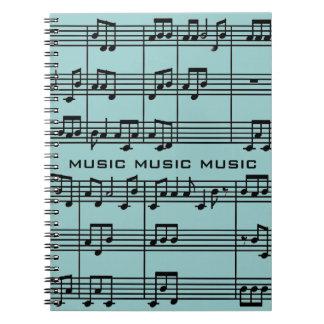 Musikalisk ställninganteckningsbok anteckningsbok med spiral